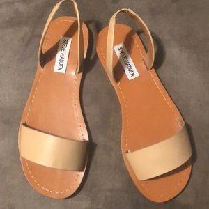 Steve Madden Alina Natural Flat Sandals